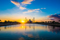 Islamic mosque sunset songkhla thailand Stock Photo