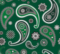 Islamic paisley green vector seamless texture Royalty Free Stock Photo