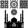 Islamic pattern vector of different on white backgraund Stock Images