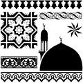 Islamic pattern vector of different on white backgraund Stock Photography