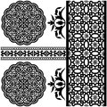 Islamic pattern vector of different on white backgraund Royalty Free Stock Photography