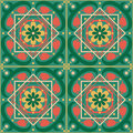 Islamic pattern vector of seamless with flowers Royalty Free Stock Images
