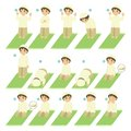 Islamic Prayer or Salat Guide for Kids Vector