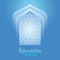 Islamic Ramadan Kareem Blue Background