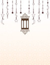 Islamic Ramadan themed background with lanterns Royalty Free Stock Photo