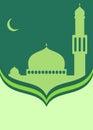 Islamic Ramadan themed card design