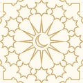 Islamic seamless pattern with persian and moroccan ornament and motif. Royalty Free Stock Photo