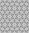 Islamic seamless vector pattern. White Geometric ornaments based on traditional arabic art. Oriental muslim mosaic