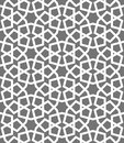Islamic seamless vector pattern. White Geometric ornaments based on traditional arabic art. Oriental muslim mosaic Royalty Free Stock Photo