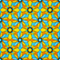 Islamic Stained Glass Seamless Pattern Royalty Free Stock Photography