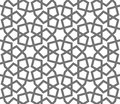 Islamic vector geometric ornaments, traditional arabic art. Oriental seamless pattern. Turkish, Arabian, Moroccan tile Royalty Free Stock Photo