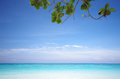 Island beach and blue sky Royalty Free Stock Photography