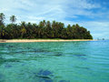 Island beach in panama zapatillas islands bocas del toro caribbean sea Stock Image