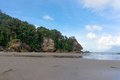 Island borneo the beach of the of at bako national park Stock Images