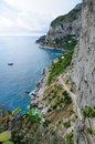 Island of Capri Coastline - Italy Stock Photo