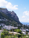 The island of capri is an italian off sorrentine peninsula on south side gulf naples it has been a resort since Royalty Free Stock Photo