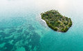 Island in the caribbean beautiful private middle of sea Stock Images