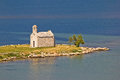 Island church by the sea Royalty Free Stock Photo