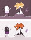 Island colored cartoon