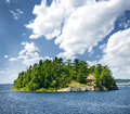 Island in georgian bay small rocky near parry sound ontario canada Royalty Free Stock Images