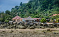 Island guest houses and motels this photo of some of the in genteng village in tioman malaysia Royalty Free Stock Photo
