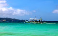 Island Hopping Boat in Boracay Royalty Free Stock Photo