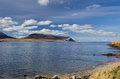 Island of hoy seen from orkney s mainland Stock Images