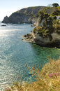 The Island of Ischia from the sea Royalty Free Stock Photo