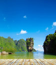 Island james bond in thailand ko tapu Stock Image