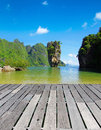 Island james bond in thailand ko tapu Royalty Free Stock Photo