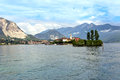 Island on the lago maggiore beautiful in italy Royalty Free Stock Photos