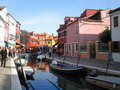 Island of murano is a series islands linked by bridges in the venetian lagoon northern italy it lies about km north venice and Stock Photography