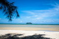 Island next to the sea this photo shooting from beach on hot summer in thailand Royalty Free Stock Image