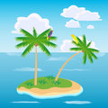 Island in ocean Stock Photography