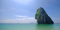 Island off coast of thailand scenic view rock formation coastline with blue sky and cloudscape background Royalty Free Stock Images