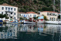 Island of poros greece just hours drive or sailing from the port piraeus athens you may find the small in the saronic sea the Royalty Free Stock Photography