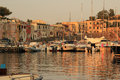 island of Procida, parking yachts Royalty Free Stock Photo