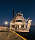 The island queen at dock a twilight view of tourboat docked in kingston ontario canada Stock Photography