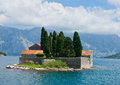 Island of saint george montenegro is one the two islets off the coast perast in bay kotor the contains Royalty Free Stock Photography