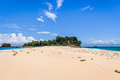 Island and sandbank tropical in nosy be madagascar Stock Image