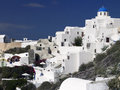 Island of santorini greece the greek in the cyclades in the aegean sea off the coast mainland Royalty Free Stock Photo