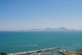 The island of santorini view of the coast greece Royalty Free Stock Photos