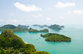 Island and sea in the Gulf of Thailand. Stock Photos