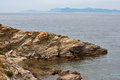 Island in the sea nature of provence Stock Photography