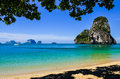 Island sea sand sun beach landscape at phra nang bay thailand krabi Royalty Free Stock Photos