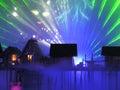 Island SENTOSA, Singapore, Laser show Stock Photo