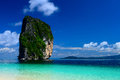 The island ser and blue sky of thailand most popular tourist poda in krabi Royalty Free Stock Image