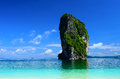 The island ser and blue sky of thailand most popular tourist poda in krabi Stock Image