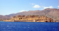 Island spinalonga greece view of the crete Royalty Free Stock Photo