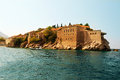 Island of sveti stefan resort montenegro Royalty Free Stock Photo